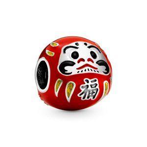 Pandora Red Daruma Doll Charm